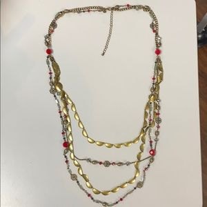 Premier Designs necklace with red accents